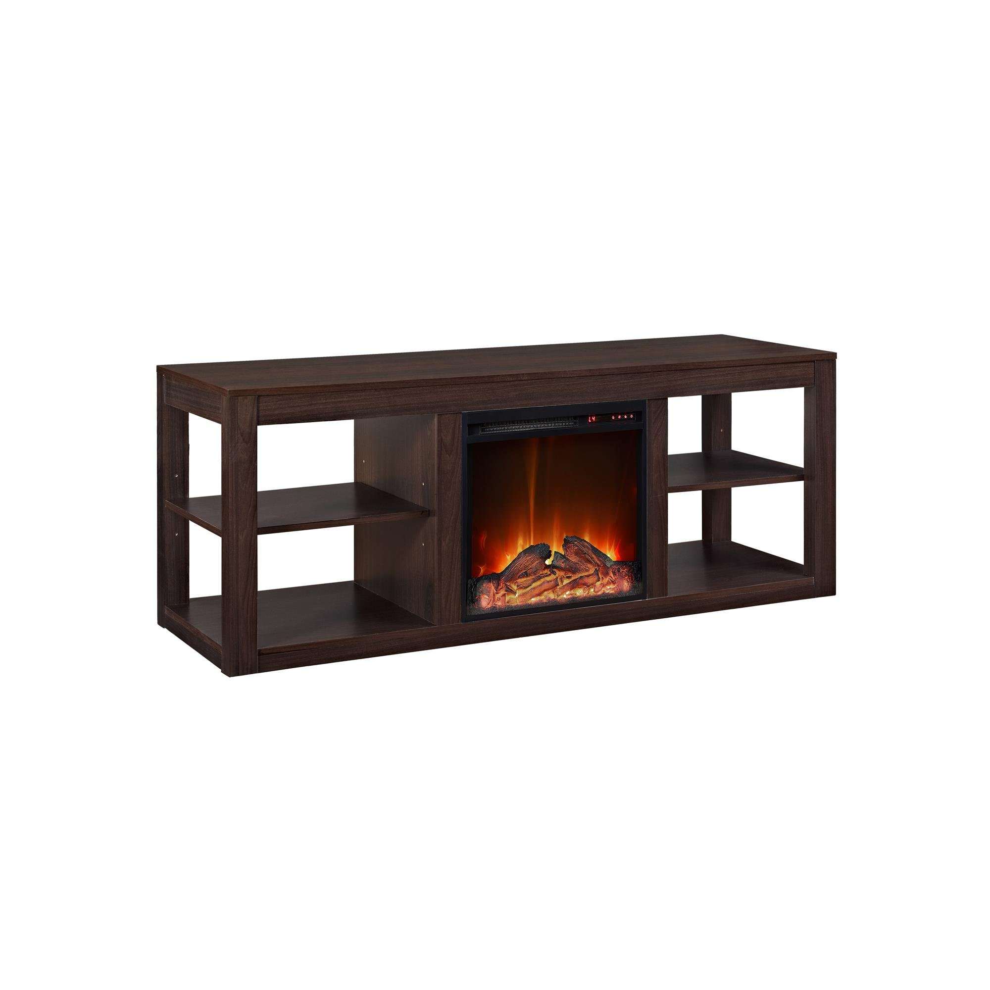Ameriwood Home Parsons Console Fireplace for TVs up to 65'', Espresso by Ameriwood Home