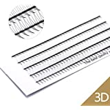 EMEDA 200PCS 3D Volume Eyelashes Extensions Russian Cluster Individual Eyelashes Professional Volume C Curl Lash Extensions 0.07 Thickness(3D)