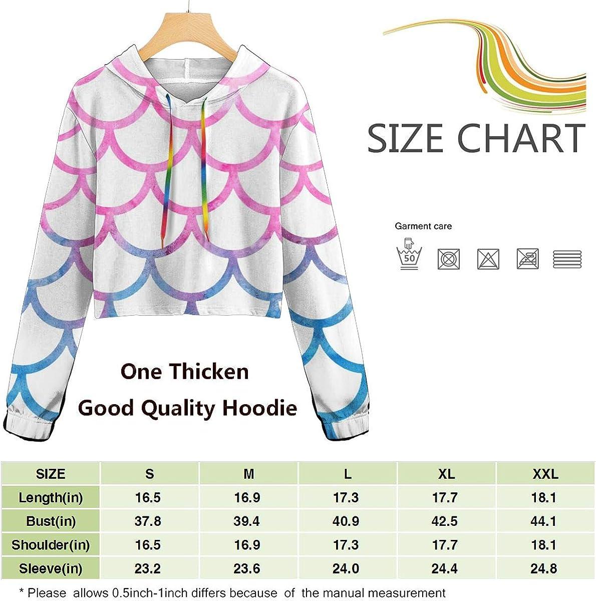 Colorful Mermaid Scales Women Sweatshirt Casual Hoodie Tshirt T Hoodies Cropped Crop Tops