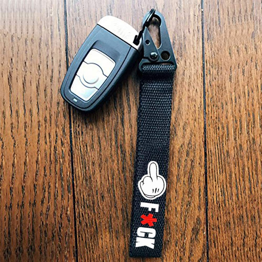 Dsycar Black Car Motorcycle Keychain Key Ring Car Keychain Tag