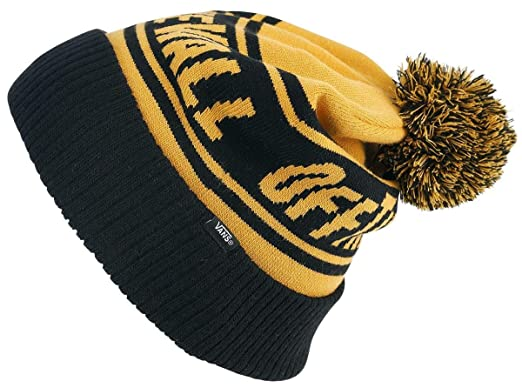 6a01fab9abf Vans Off The Wall Pom Beanie Beanie Yellow-Black  Amazon.co.uk  Clothing