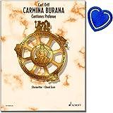 Carmina Burana Cantiones Profanae - Meisterwerk von Carl Orffs - Chorpartitur - mit herzförmiger Notenklammer