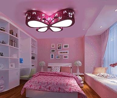 Kronleuchter Deckenleuchten Rosa Schmetterling, Niedlich LED Deckenleuchten  Für Wohnzimmer Schlafzimmer Mädchen Und Babys