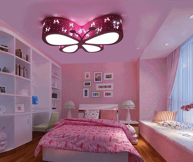 Lampadario Da Soffitto Luci Farfalla Rosa, Carino Led Lampade Da Soffitto  Per Soggiorno Camera Da