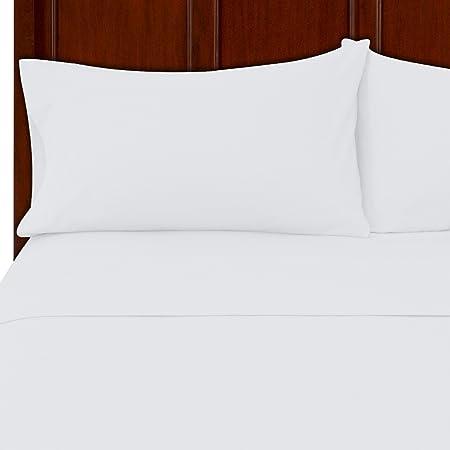 Maz Textile Juego de sábanas de franela 100% algodón, algodón, Blanco, Pair of Pillow Case (50 x 76 cm): Amazon.es: Hogar