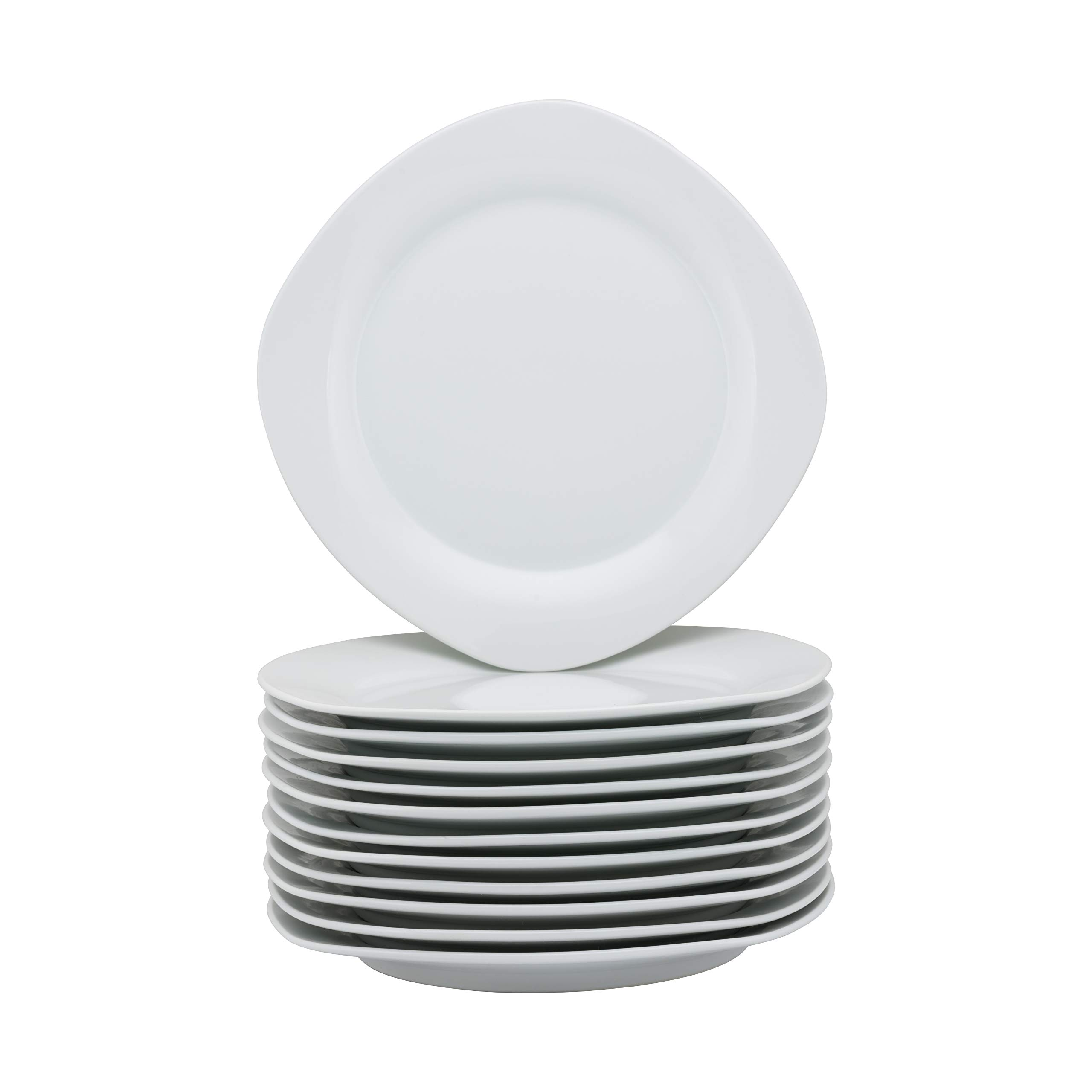 10 Strawberry Street CATERING-12-SQDINNER-W Catering Packs Square Dinner Plates White by 10 Strawberry Street (Image #1)