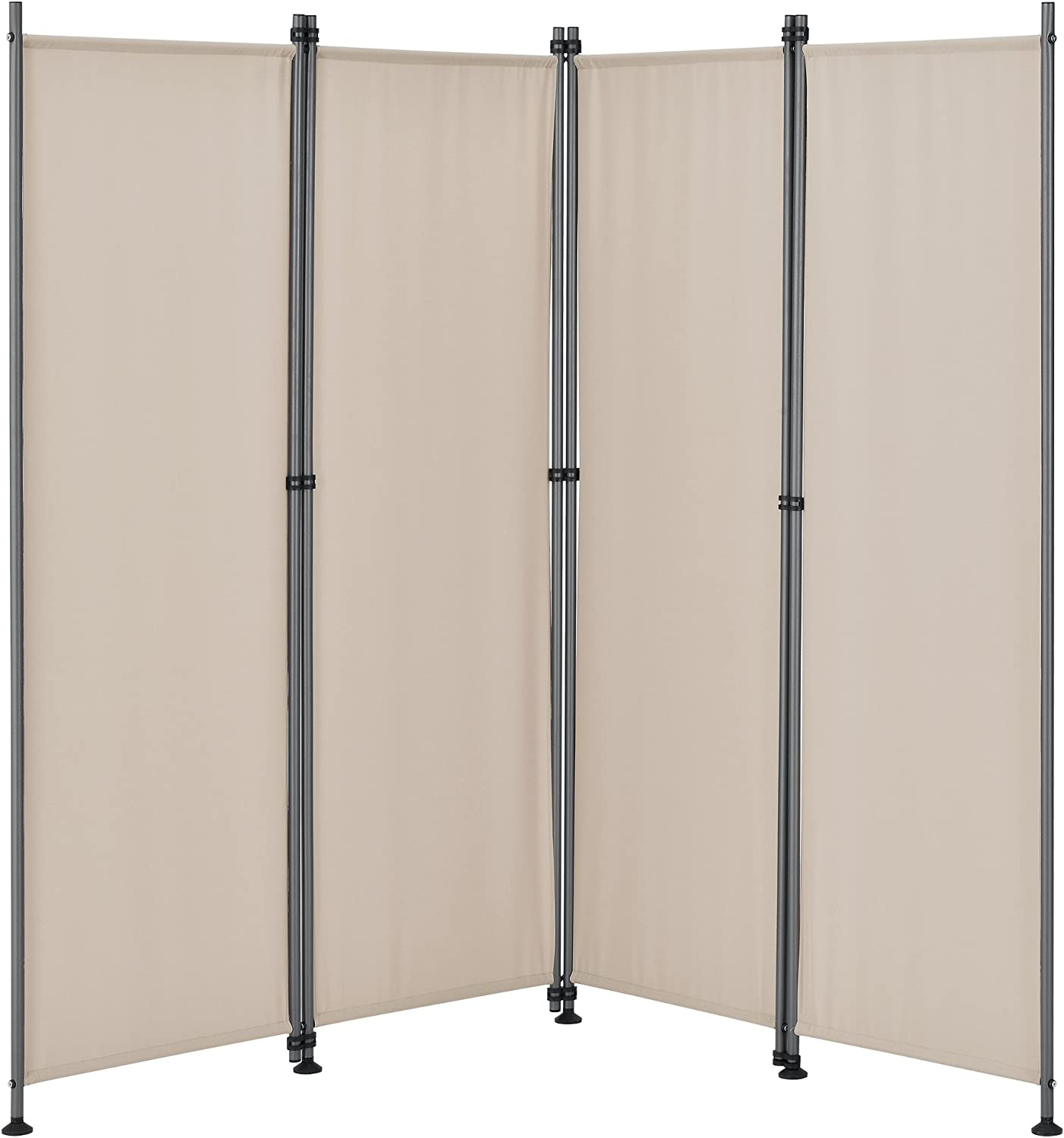 pro.tec]® Pared divisoria / Biombo - 215 x 170 cm - Color de arena ...