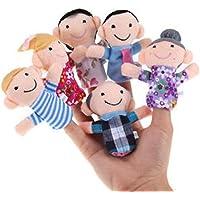 TWISHA Family Finger Puppet (Multicolour) - Set of 6