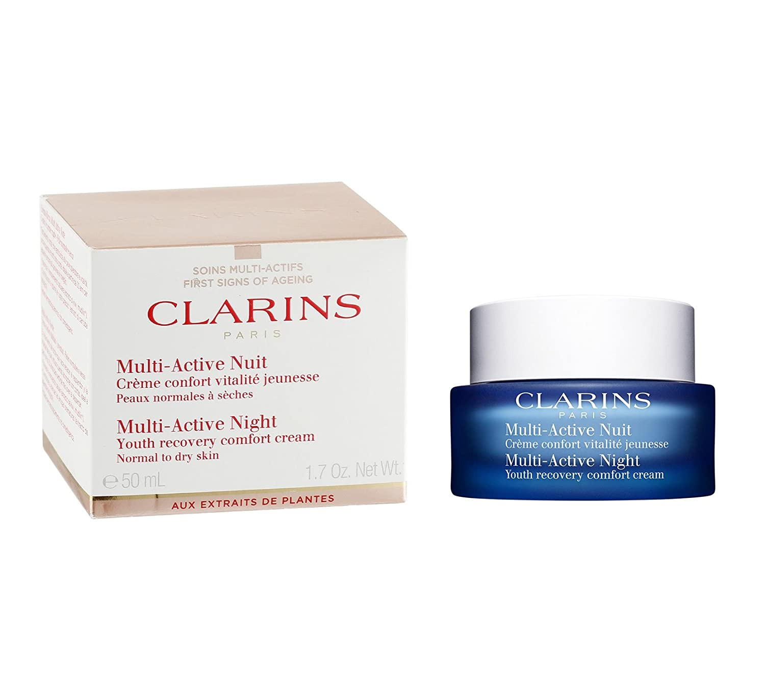 CLARINS Multi-Active Night Youth Recovery Comfort Cream, 1.7 Ounce CLARINS-105109EU 338081110510950ML_-50ML