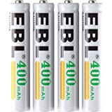 EBL 充電式ニッケル水素電池 単6形 4個入り 400mAh ケース付き タッチペンに適用