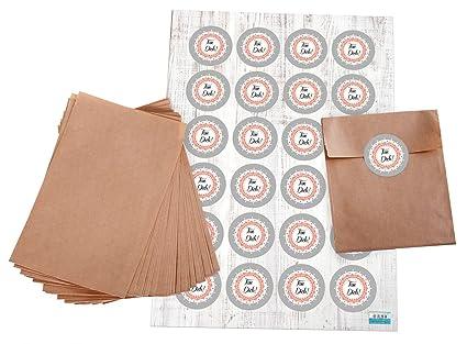 Bolsas de Juego: 24 marrón pequeñas papel de plano bolsas de ...