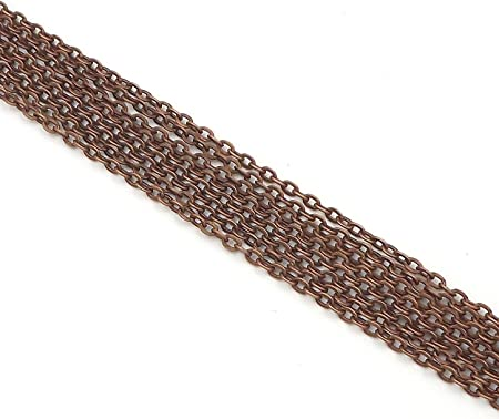 24 Inch Craft Gold Color 3x4mm Cable Chain Necklaces 10 20 50