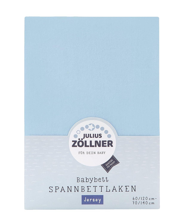 Julius Zöllner Spannbetttuch Spannbettlaken Jersey 90x40 koralle 3er Pack