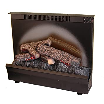 Lovely Dimplex Electraflame Electric Fireplace Heater Insert In Black Finish And Fireplace Heater Insert