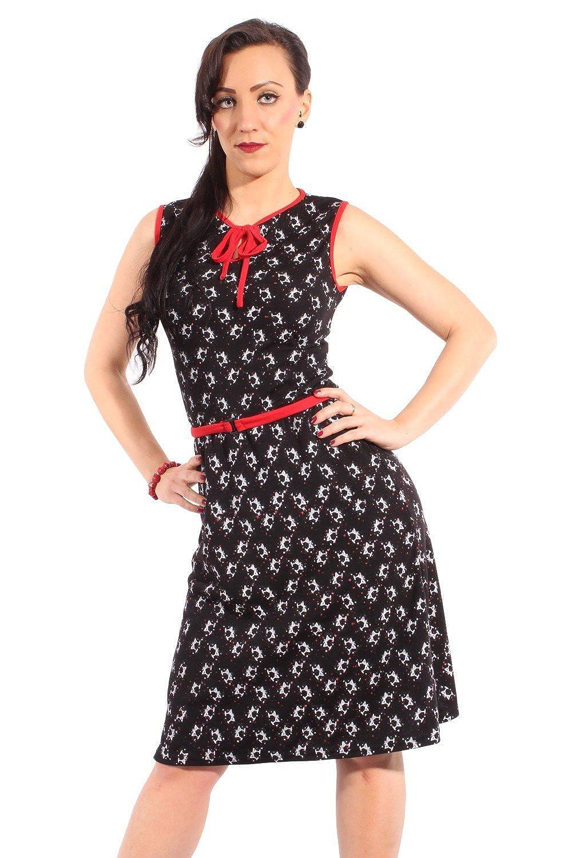 SugarShock Damen MARTINIGLAS rockabilly pin up A-Form KLEID Strandkleid Shirtkleid