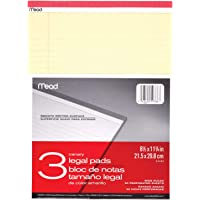 Mead Legal Pad Writing Pads, Wide Ruled, Great for Use as Home Office Supplies, Memo Pads, Note Pads, or Steno Pads, 8-1…