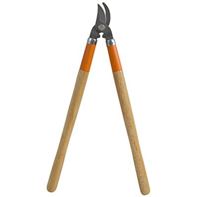 Flexrake LRB600 Light Duty Bypass Lopper with Wood Handle : Hand Loppers : Garden & Outdoor
