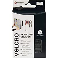 VELCRO Brand VEL-EC60239 Velcro Brand-Velcro Velcro zelfklevende extra sterke 50 mm x 100 m rol 2 stuks, zwart, 50 mm x…