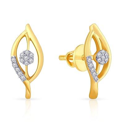 9086a96ace3a2 Buy Malabar Gold and Diamonds 18k Yellow Gold and Diamond Stud ...