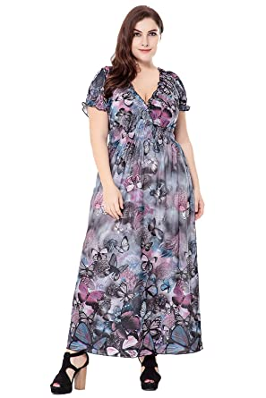 Casual Maxi Dresses with Short Sleeves