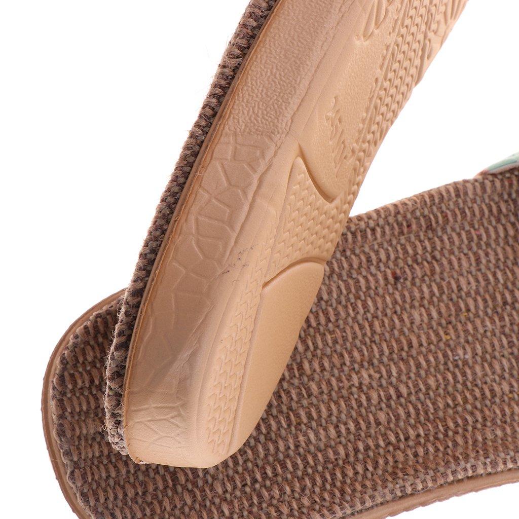 2908f576 Baoblaze 1 Par Zapatilla de Estar por Casa de Lino de Mujer Sandalias Planas  Antideslizantes para Playa Viaje Verano EU 35-40: Amazon.es: Zapatos y ...