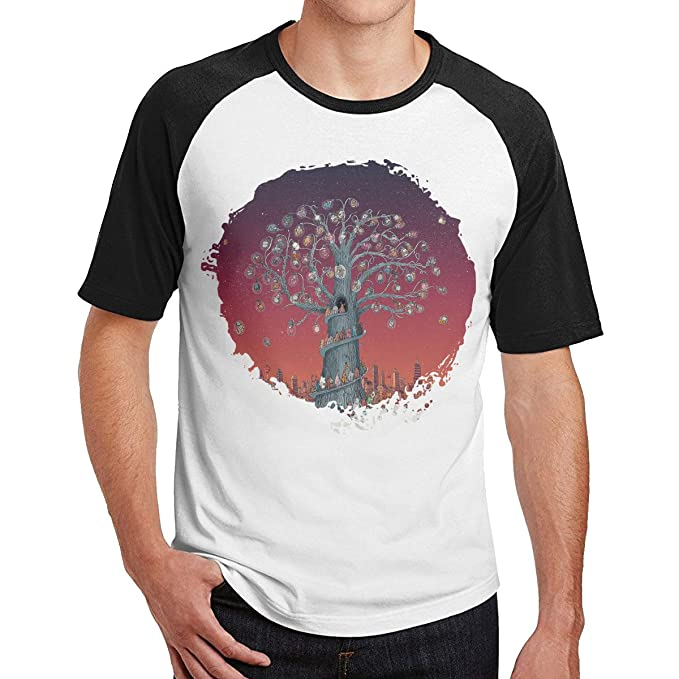 e429d0d8b AdelaMHarvey Mens Dance Gavin Dance Artificial Selection Cotton Short Sleeve  Raglan Shirt S Black