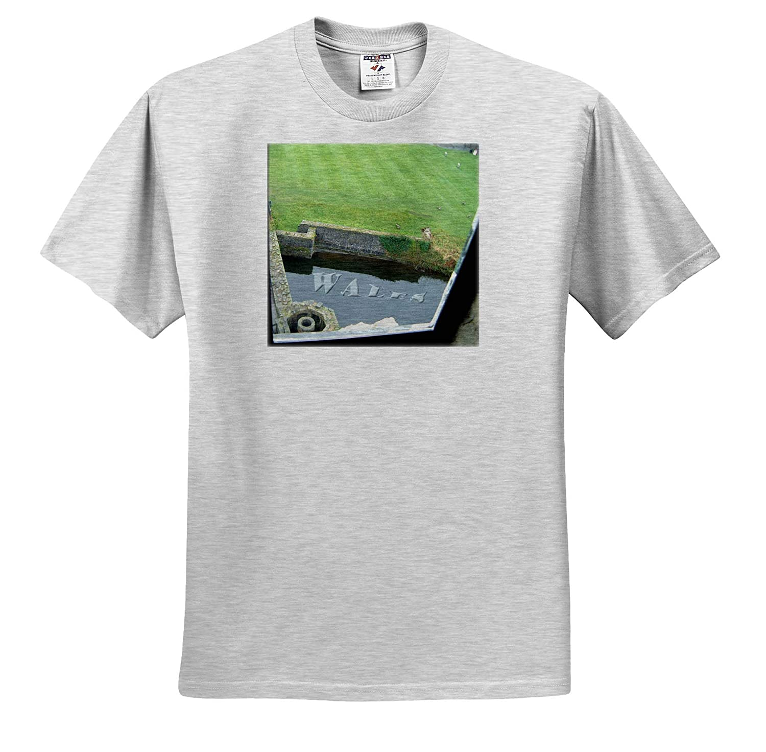 T-Shirts 3dRose Jos Fauxtographee A Pond Beneath a Castle in Cardiff Wales with Green Lawn Wales in The Pond