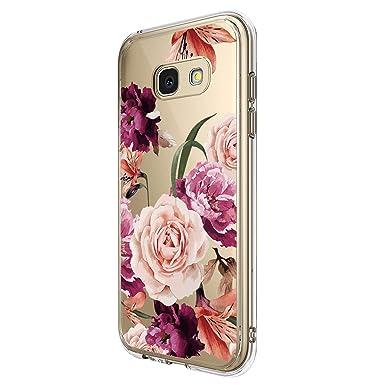 Galaxy A3 2017 Schutzh/ülle Durchsichtig Silikon Handyh/ülle Clear TPU Schutz Handytasche Blumen Muster Case Cover f/ür A5 2017 10, Galaxy A3 2017 H/ülle Kompatibel Samsung Galaxy A5 2017 H/üllen