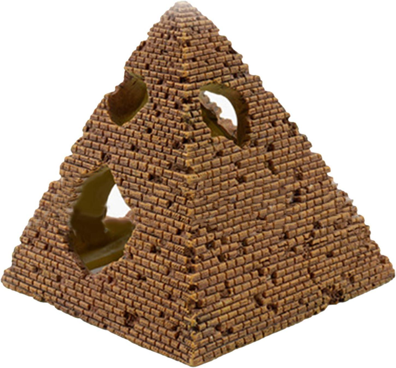 Jinyank Aquarium Ornament Resin Egyptian Pyramid Reptile Shrimp Hideout Fish Tank Decor