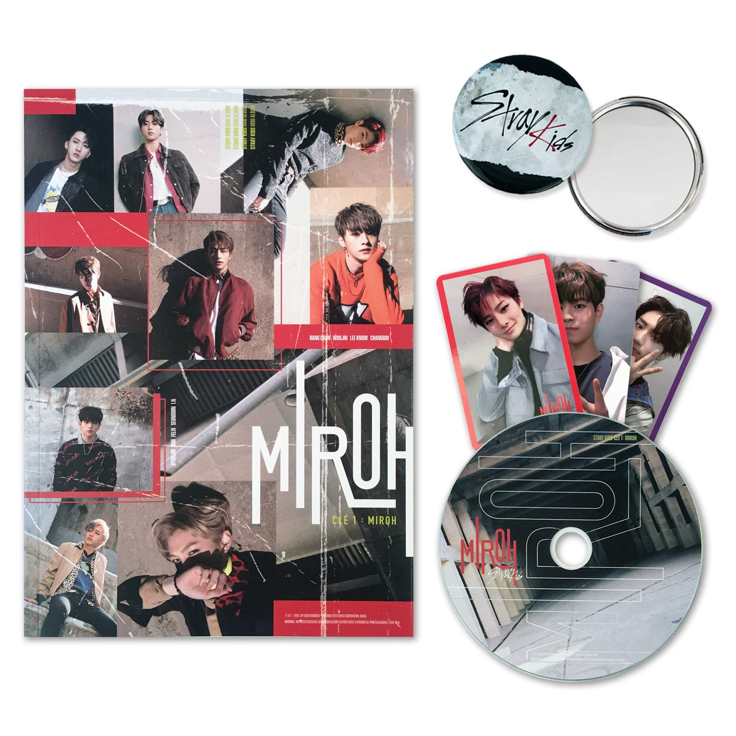 STRAY KIDS Mini Album - CLE 1 : MIROH [ Clé 1 ver. ] CD + Photobook + 3 QR Photocards + FREE GIFT by JYP Entertainment