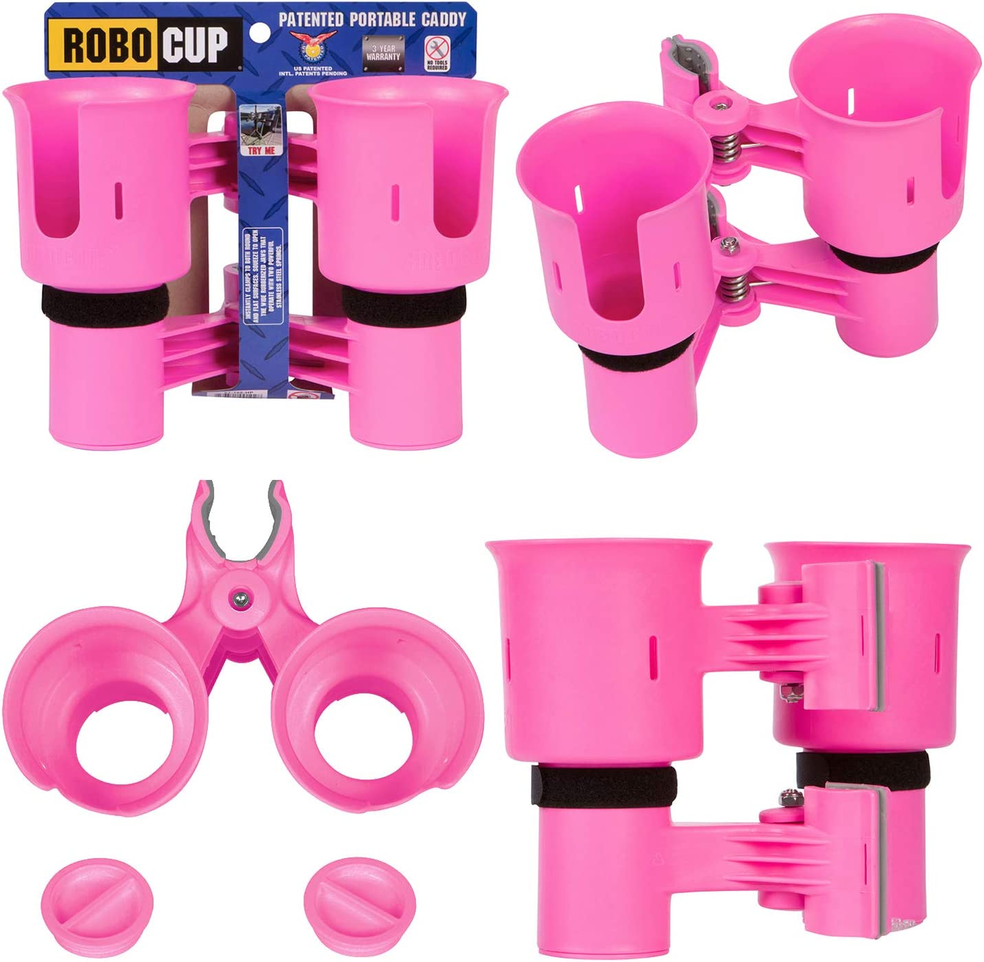 ROBOCUP 12 Colors, Best Cup Holder for Drinks, Fishing Rod/Pole, Boat, Beach Chair/Golf Cart/Wheelchair/Walker/Drum Sticks/Microphone Stand…