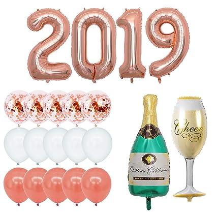 Ciao Life Globo de champán de Papel de Aluminio 2019 de 101 ...