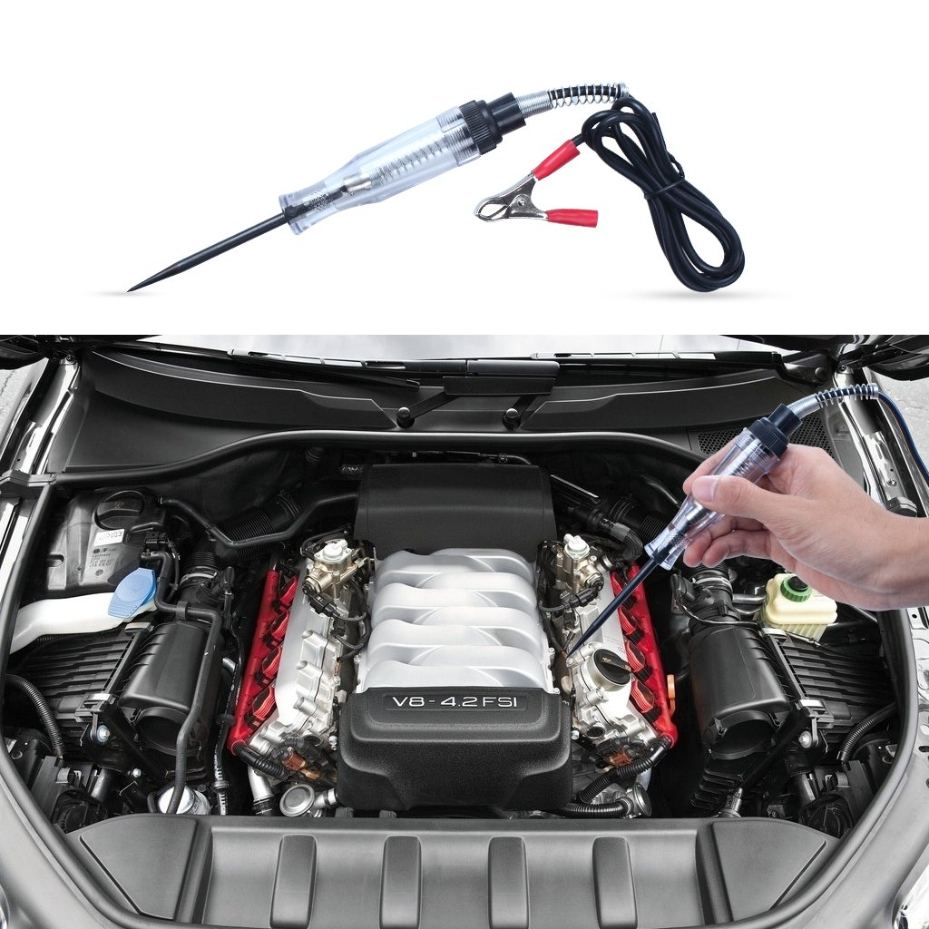 EFORCAR 2pcs Auto Truck Car Electric Circuit Voltage Tester Dc 6v 12v 24v Test Light Pen Tool