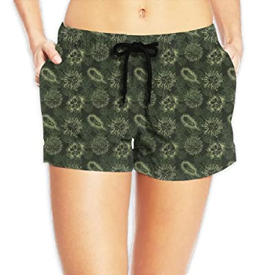 Sea An Women's Cell Virus Soft Stylish Summer Casual Beach Shorts Swimwear