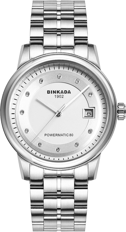 BINKADAクラシック自動機械ホワイトダイヤルメンズ腕時計# 708901 – 1 B01DZLTP42