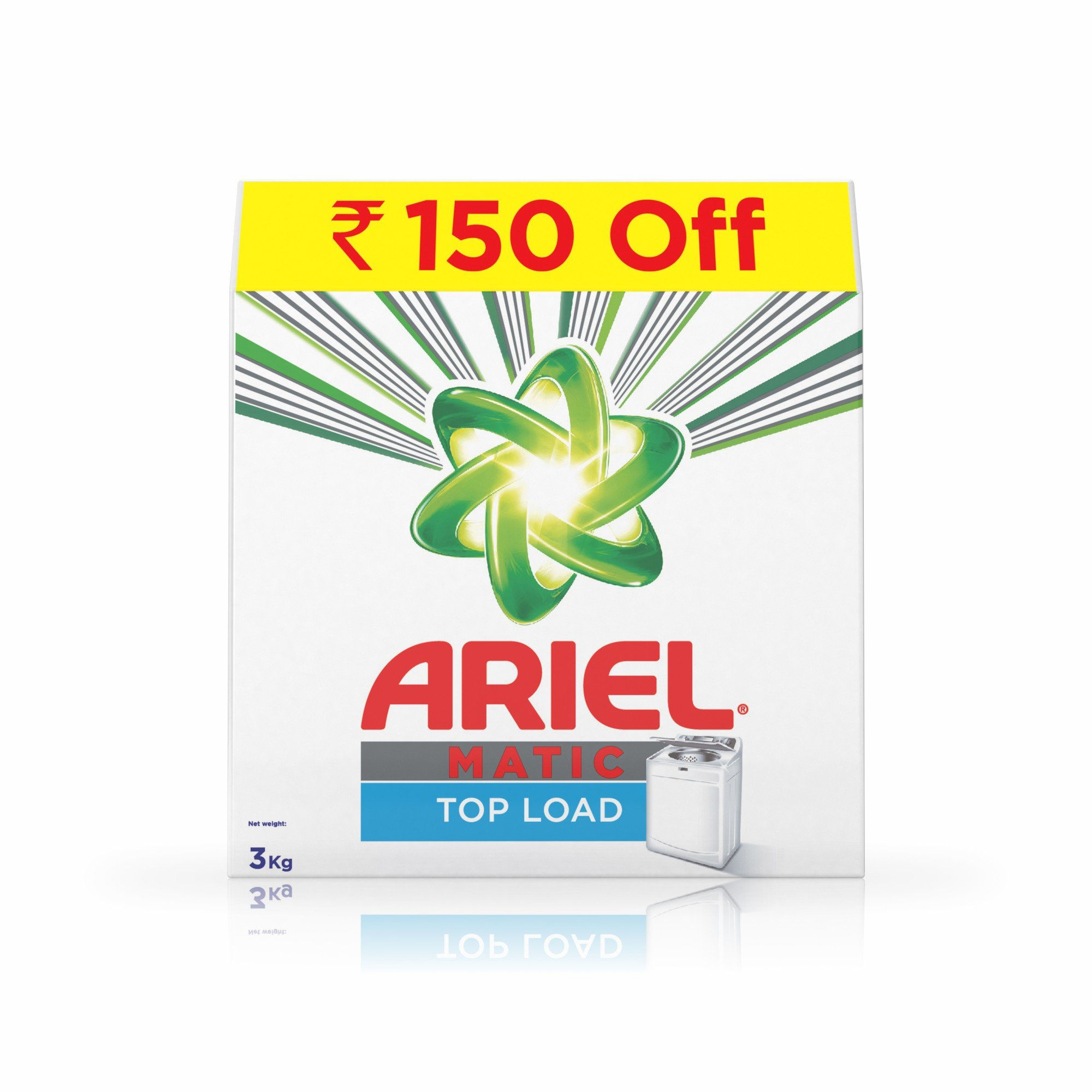 Ariel Matic Top Load Detergent Washing Powder - 3 kg (Rupees 150 Off) product image
