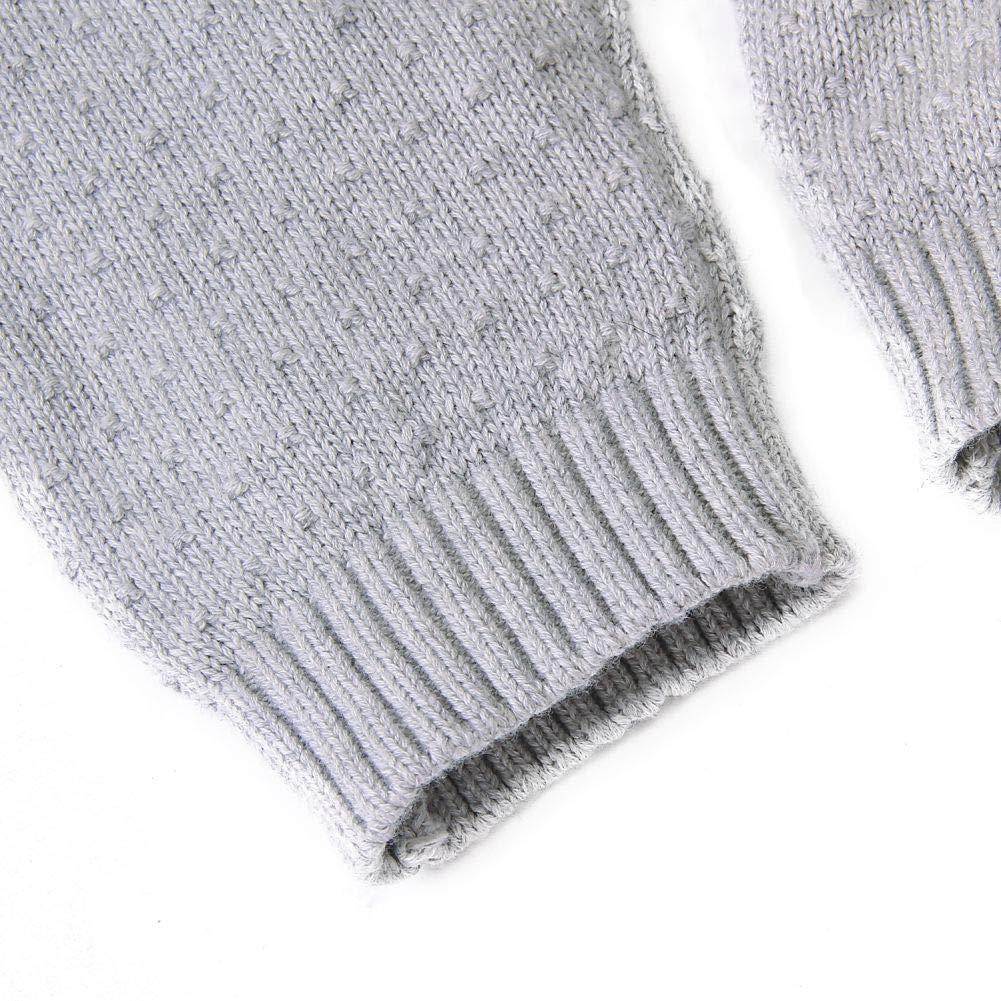 Hongyuangl Neugeborene Strickwaren Baby Boy Knit Overalls Strampler Herbst Winter /ärmellose Latzhose Hosen 0-24 Monate