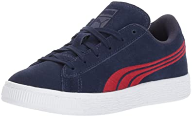 1d2a750691dc PUMA Baby Suede Classic Badge Kids Sneaker Peacoat-Toreador 4 M US Toddler