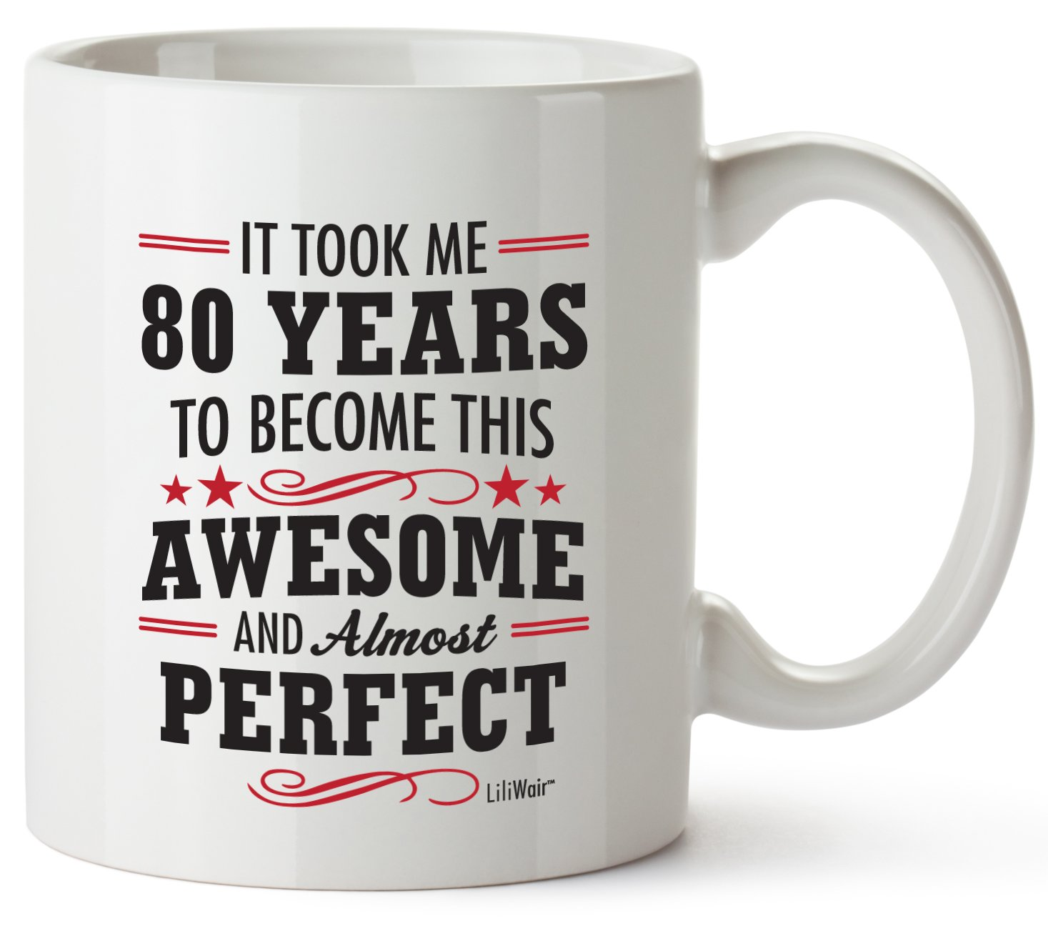 80th Birthday Gifts For Women Eighty Years Old Men Gift Mugs Happy Funny 80 Mens Womens Womans Wifes Female Man Best Friend 1939 Mug Male Unique Ideas 39 ...