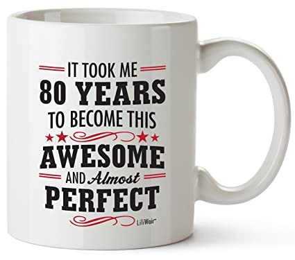 80th Birthday Gifts For Women Eighty Years Old Men Gift Mugs Happy Funny 80 Mens Womens Womans Wifes Female Man Best Friend 1939 Mug Male Unique Ideas