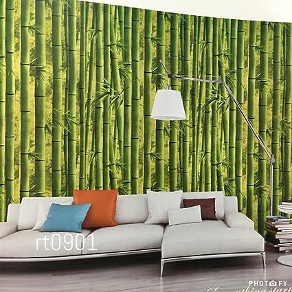 Buy Konark Designer Wallpapers Natural Vinyl Green Bamboo Scenery
