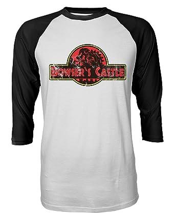 21794a964754 RIVEBELLA New Graphic Shirt Bowser s Castle Novelty Tee Mario Brothers  Jurassic Raglan Quarter Sleeve Men s T