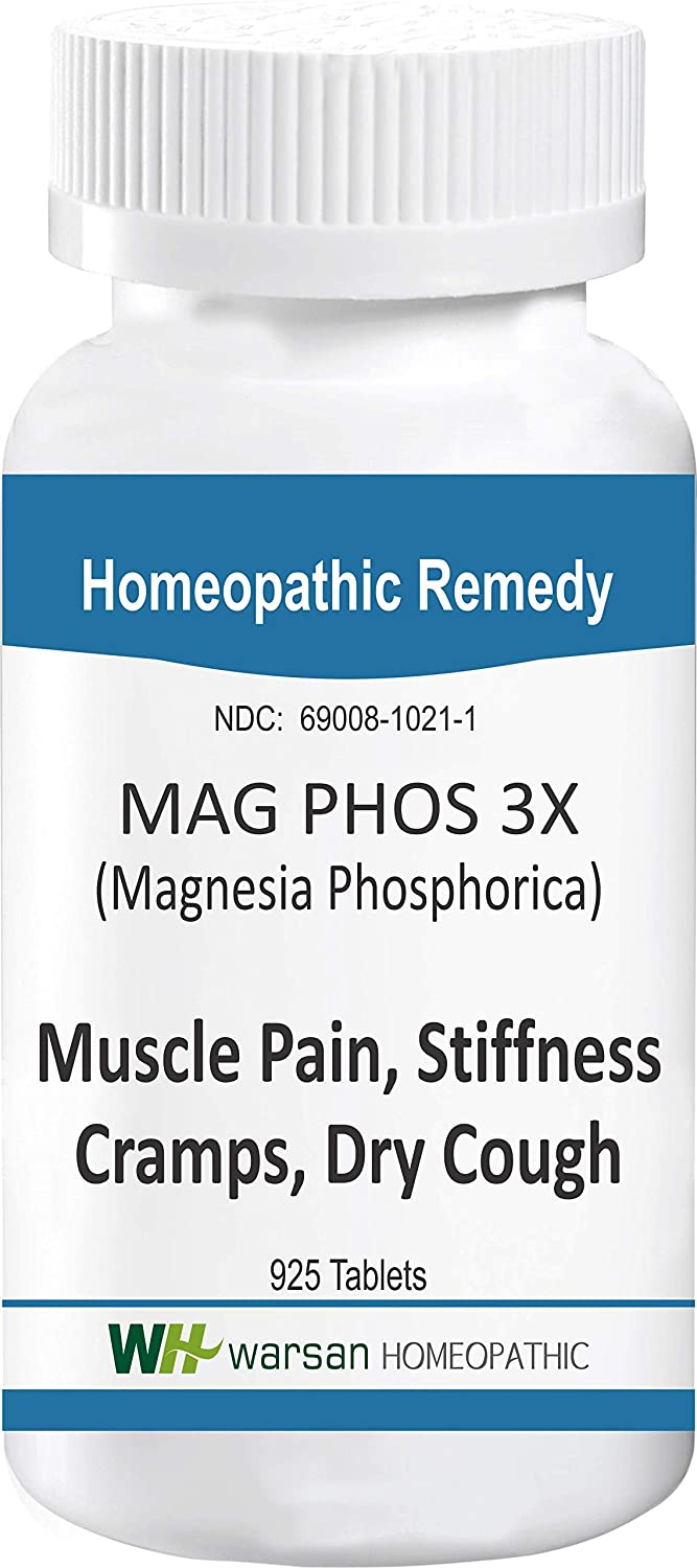 Amazon.com: MAG PHOS 3X - 925 Tablets. Tissue Salts. Muscle Pain, Stiffness, Cramps, Dry Cough.: Health & Personal Care