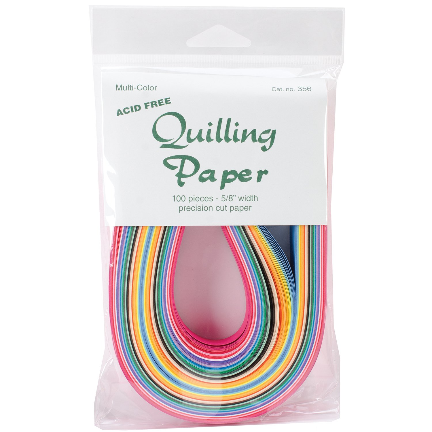 Lake City Craft 25-Color Assortment Quilling Paper, 0.625-Inch, 100-Pack