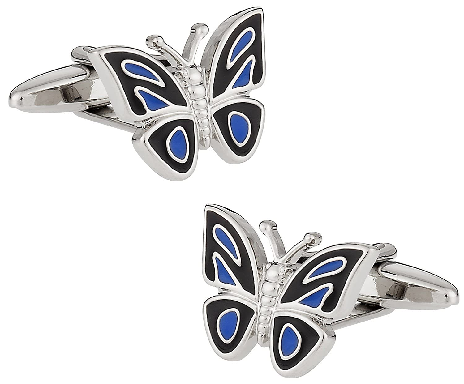 Butterfly Cufflinks in Enamel