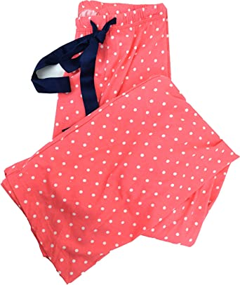 Nautica Womens Sleepwear Night Pant Pink White Polka Dot XXX-Large
