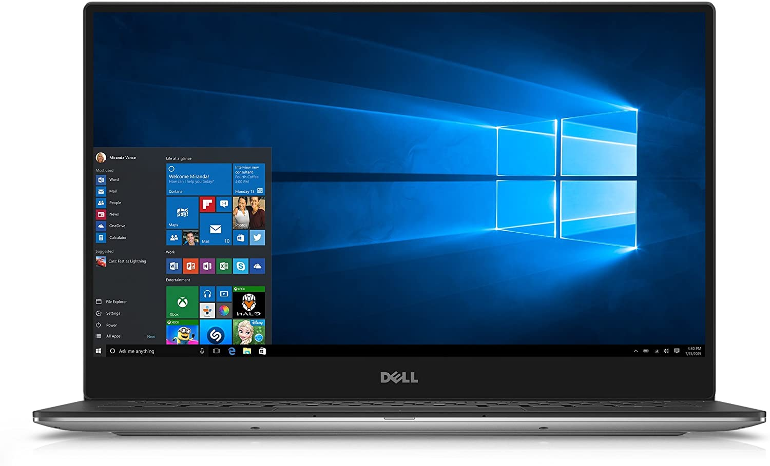 Dell XPS XPS9350-5341SLV 13.3 Inch QHD Touchscreen Laptop (Intel Core i7 with Iris Graphics, 8 GB RAM, 256 GB SSD, Silver) (Certified Refurbished)