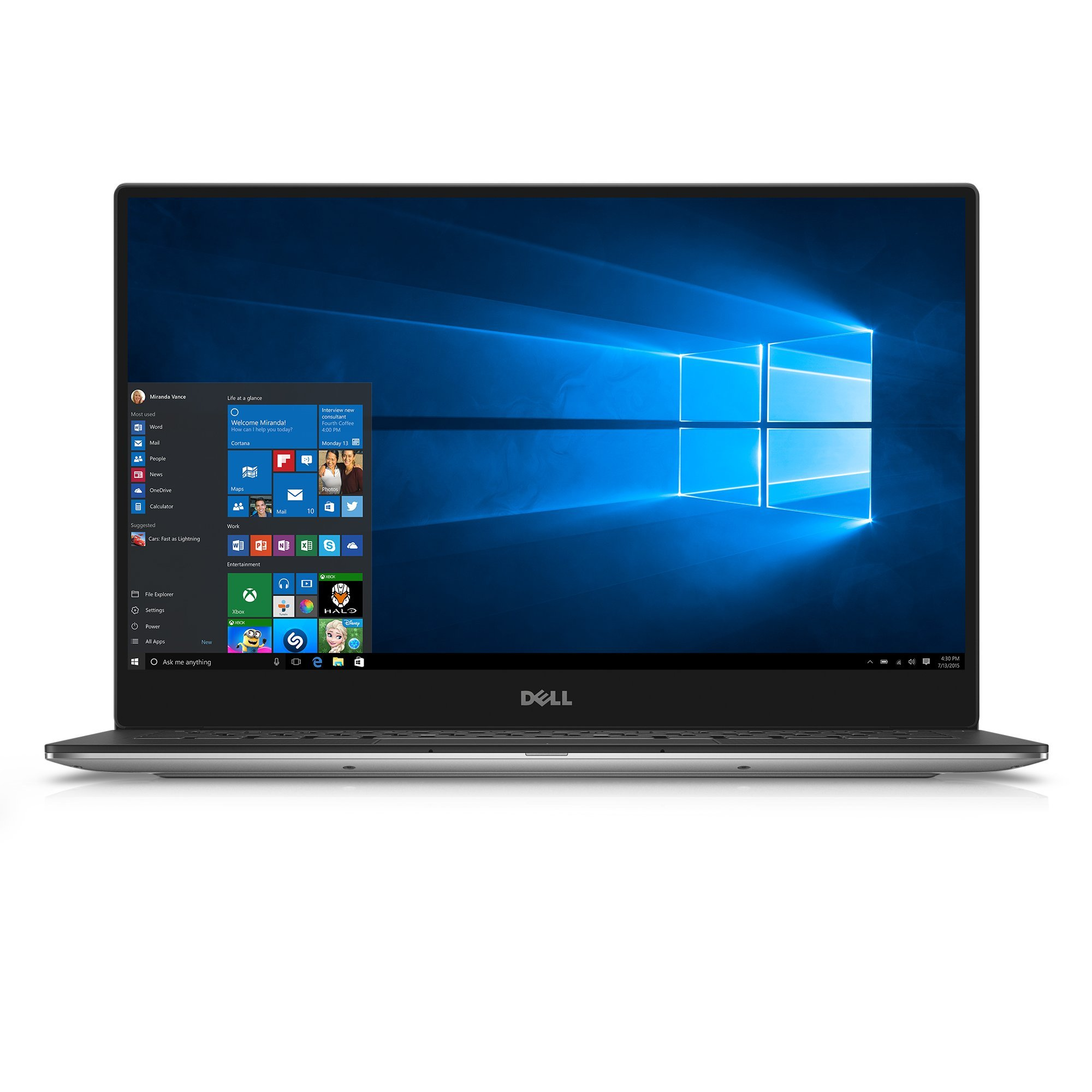 Dell XPS9350-10673SLV 13.3'' 3200x1800 Laptop (Intel Core i7-6560U 2.2GHz Processor, 16 GB RAM, 1 TB SDD, Windows 10 Microsoft Signature Image) Silver by Dell
