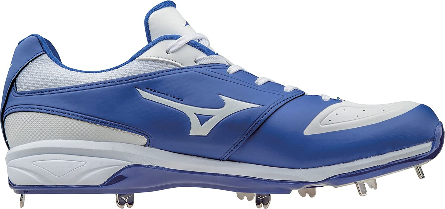 ミズノ スポーツ 野球 シューズ MIZUNO Men's Dominant IC Metal Baseball RoyalWhite [並行輸入品] B07315PTC4 9
