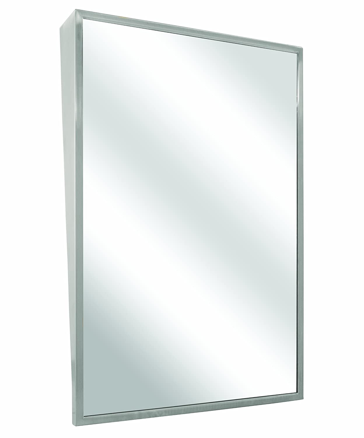 Bradley 740 018360 Float Glass Fixed Tilt Mirror With Welded Corners 18 Width X 36 Height Wall Mounted Mirrors Amazon Industrial Scientific